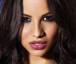 A rare photo of Lacey Banghard where her face is the most prominent element.