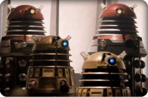 Another novelty: mix 'n' match Daleks.