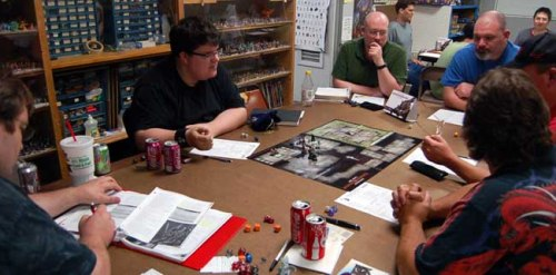 Some role-players yesterday, obviously. (No drinks allowed in my class.)